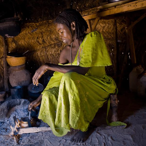 Una campaña contra las señoras que venden té en Sudán, Africa
