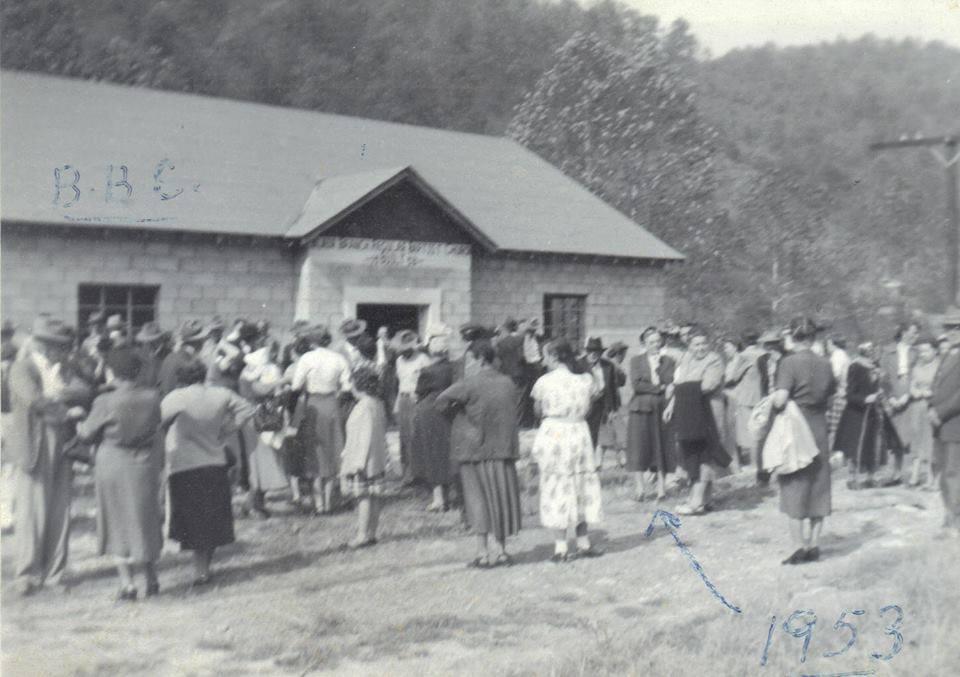 Blair Branch Church in old school house