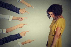 shaming a young woman
