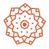 orange mandala icon