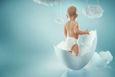 Creative baby concept background