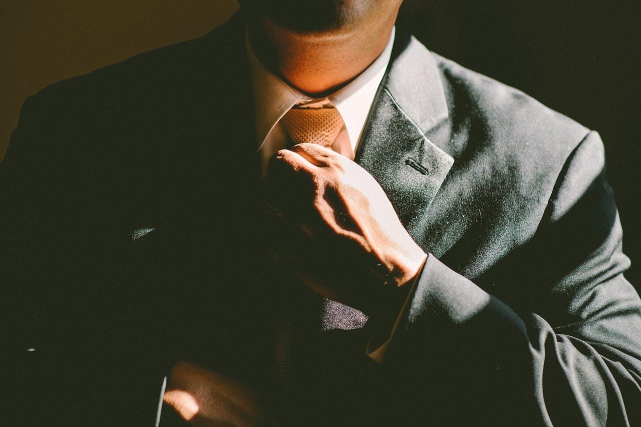 a men in tie