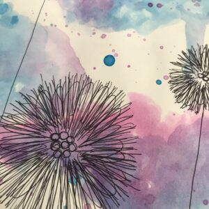 Dandelion Watercolor