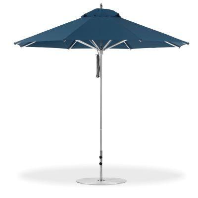 Picture of a standing dark blue umbrella