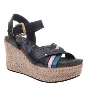 OTBT Topsail Black Wedge Sandal