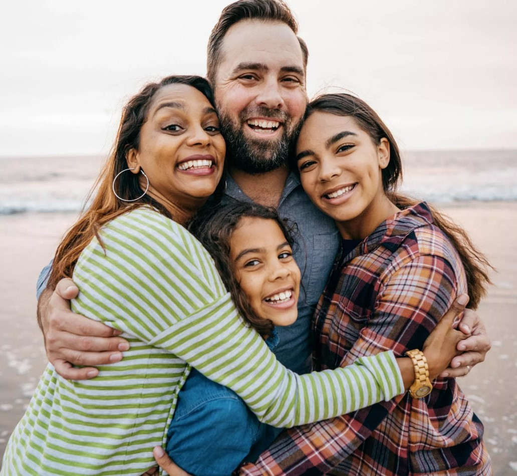 Multi-racial family enjoying an EFT Family Counseling Workshop