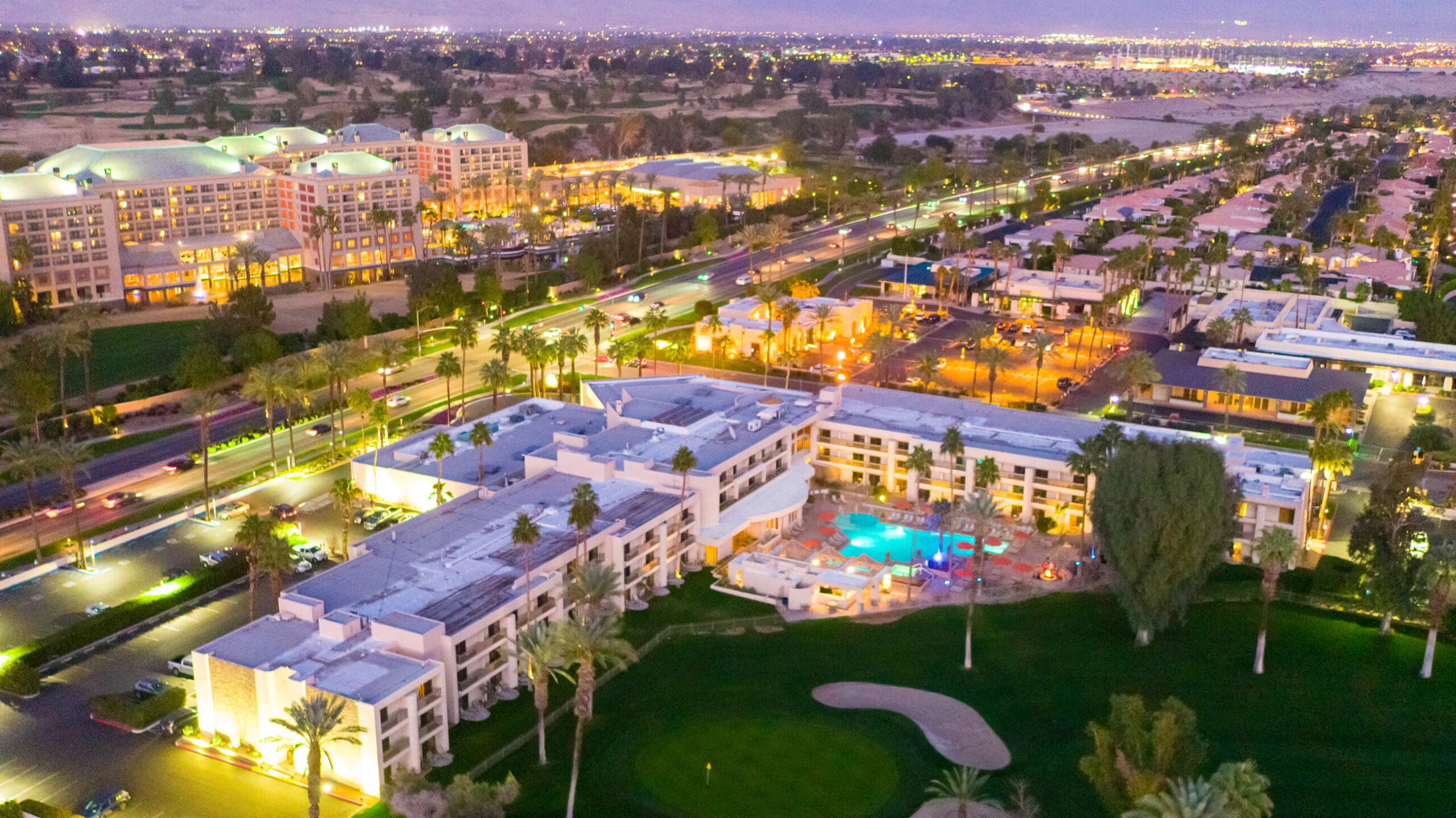 indian wells resort hotel drone photography aerial imagery