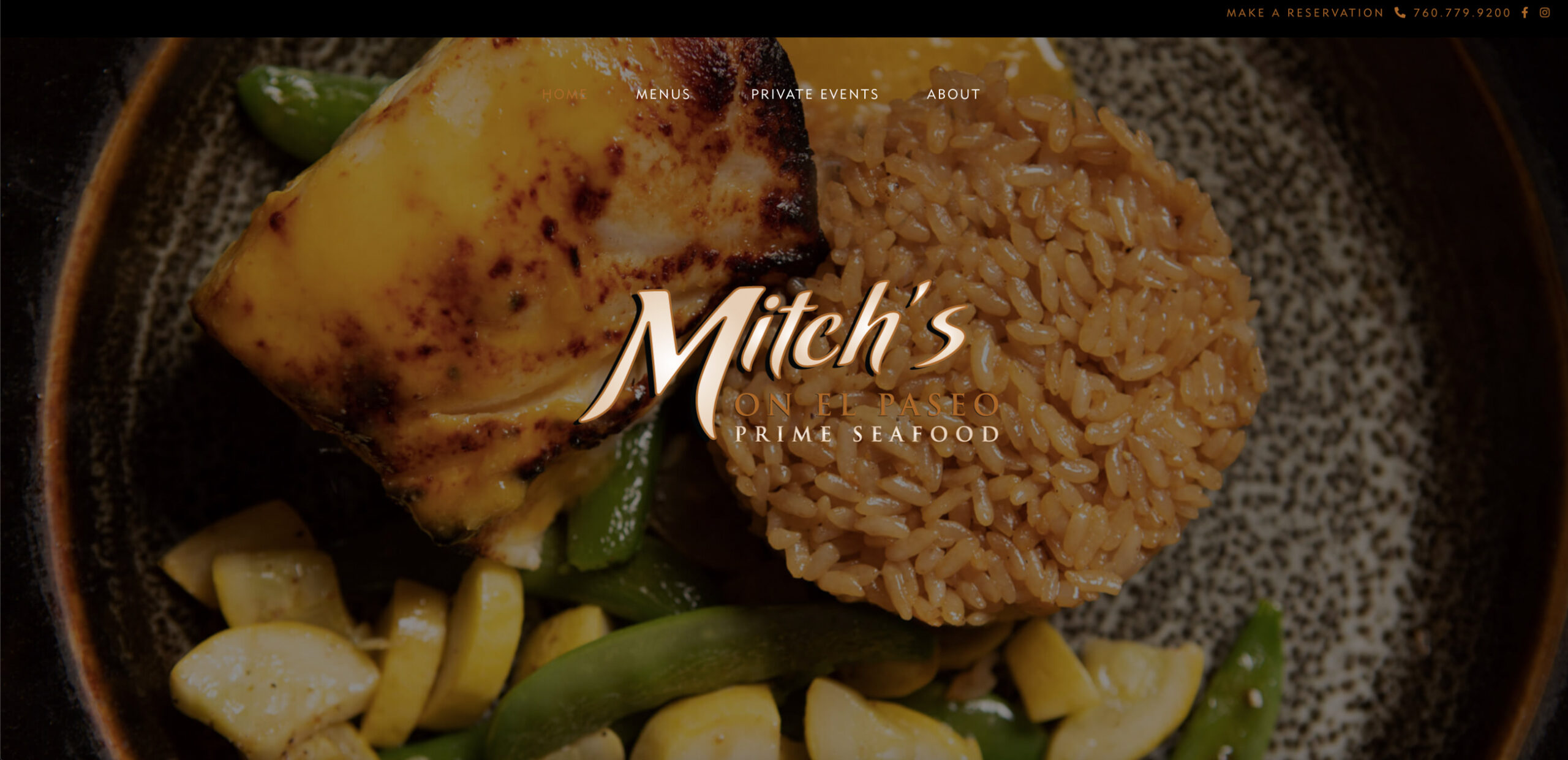custom website design by kaminsky productions for mitch's on el paseo in palm desert