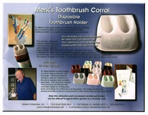 Toothbrush Corral Tri-Fold
