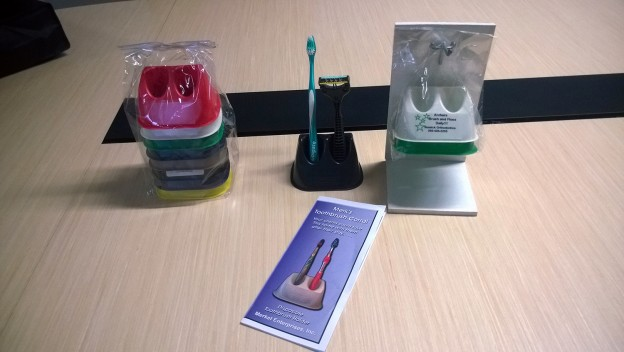 Toothbrush Corral, Packaging, and Promotional Material
