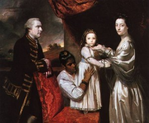 George Clive and his Family with an Indian Servant 1765, by Joshua Reynolds