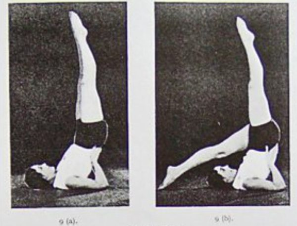 """Figure 2. """"Legs in the Air"""" from Building the Body Beautiful: The Bagot-Stack Stretch and Swing System, 1931"""