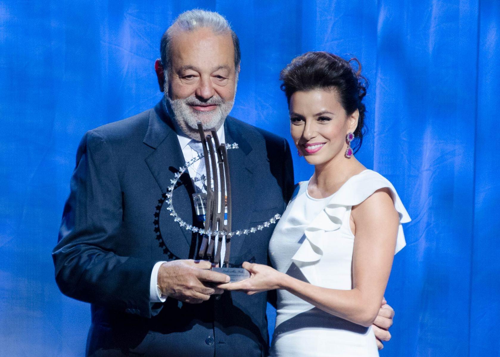 Eva Longoria, Carlos Slim Helú,  Global Citzen Awards, Clinton Global Initiative, CGI 2012 meetings, Designing for Impact, New York, September 2012