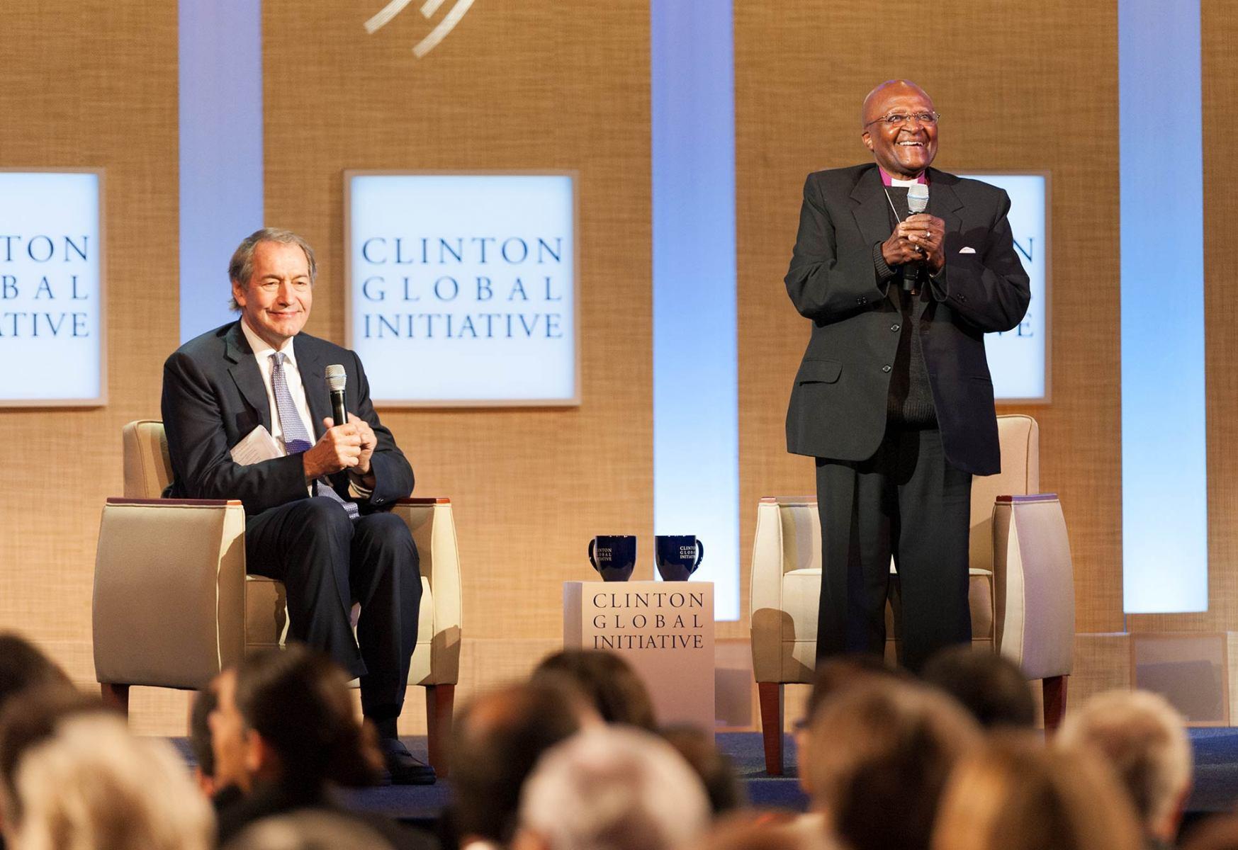 Clinton Global Initiative 2011; Conversations on Courage - Humanitarian Leadership in Action; Charlie Rose; Archbishop Desmond M. Tutu; Aung San Suu Ky; 09-210-201