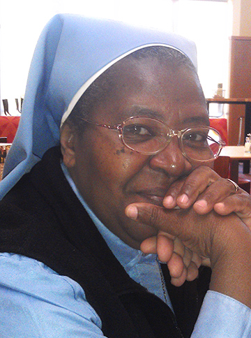 Sister Denise Desil with the Little Sisters of St. Thérèse.