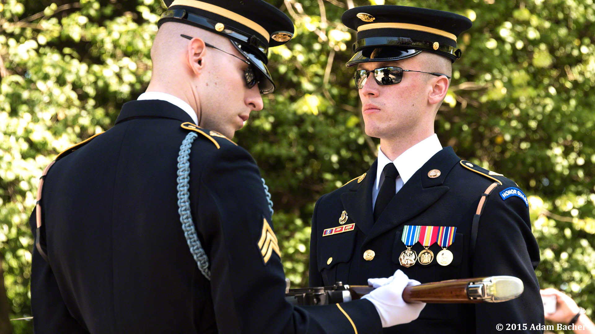 Changing of the Gard at Tomb of Unknowns at Arlington National Cemetery