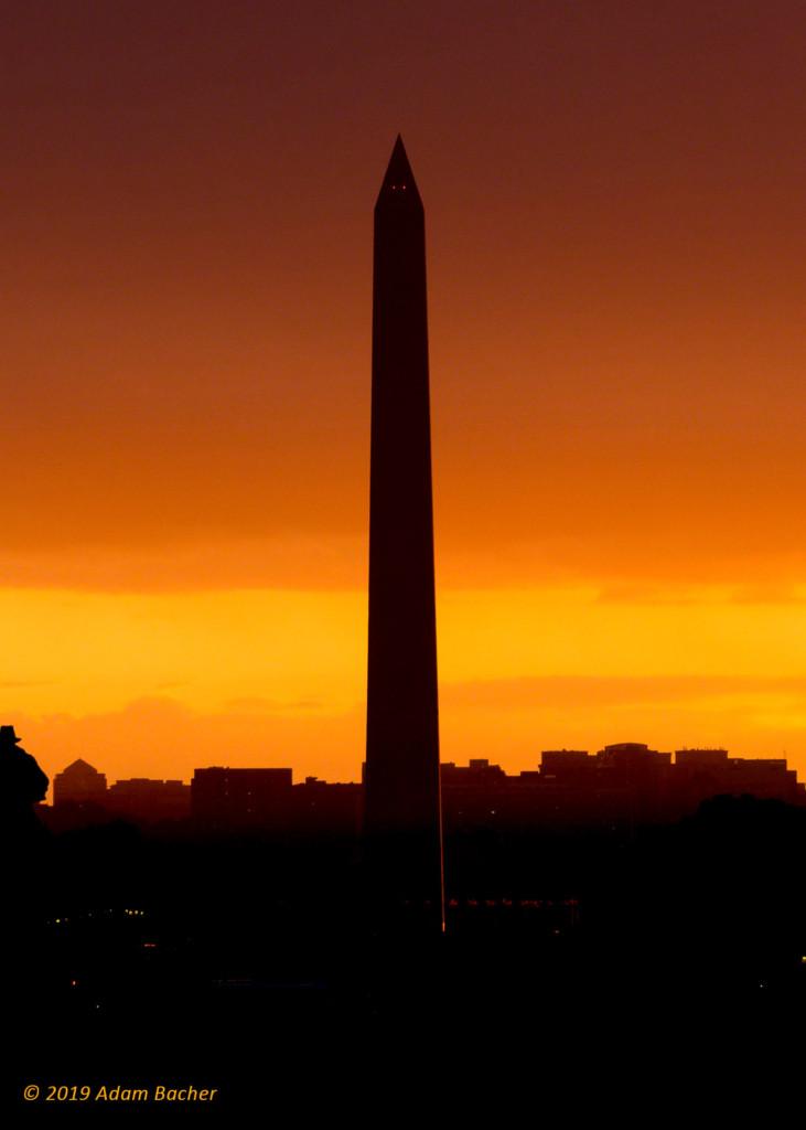washington monument as sunset, washington dc, travel photography
