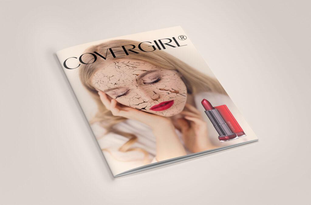 Covergirl magazine mockup