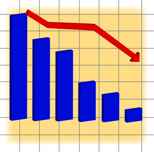 a_decline_in_sales_indicated_by_a_red_down_arrow_and_a_blue_bar_graph_0515-1009-1002-2239_SMU