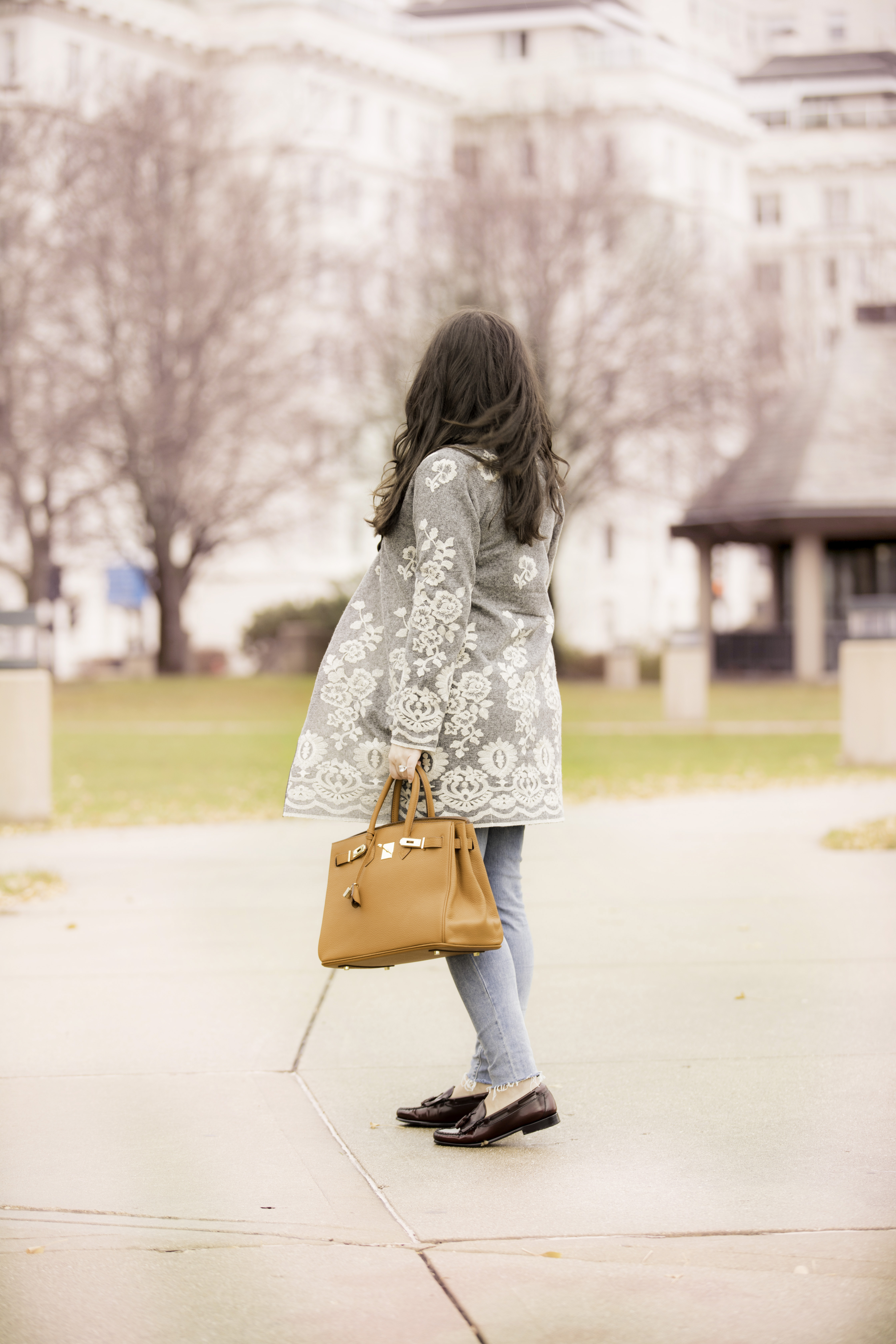 lace embroidered coat for a day in the city, soft surroundings womens fashion, baily lamb, chicago blogger