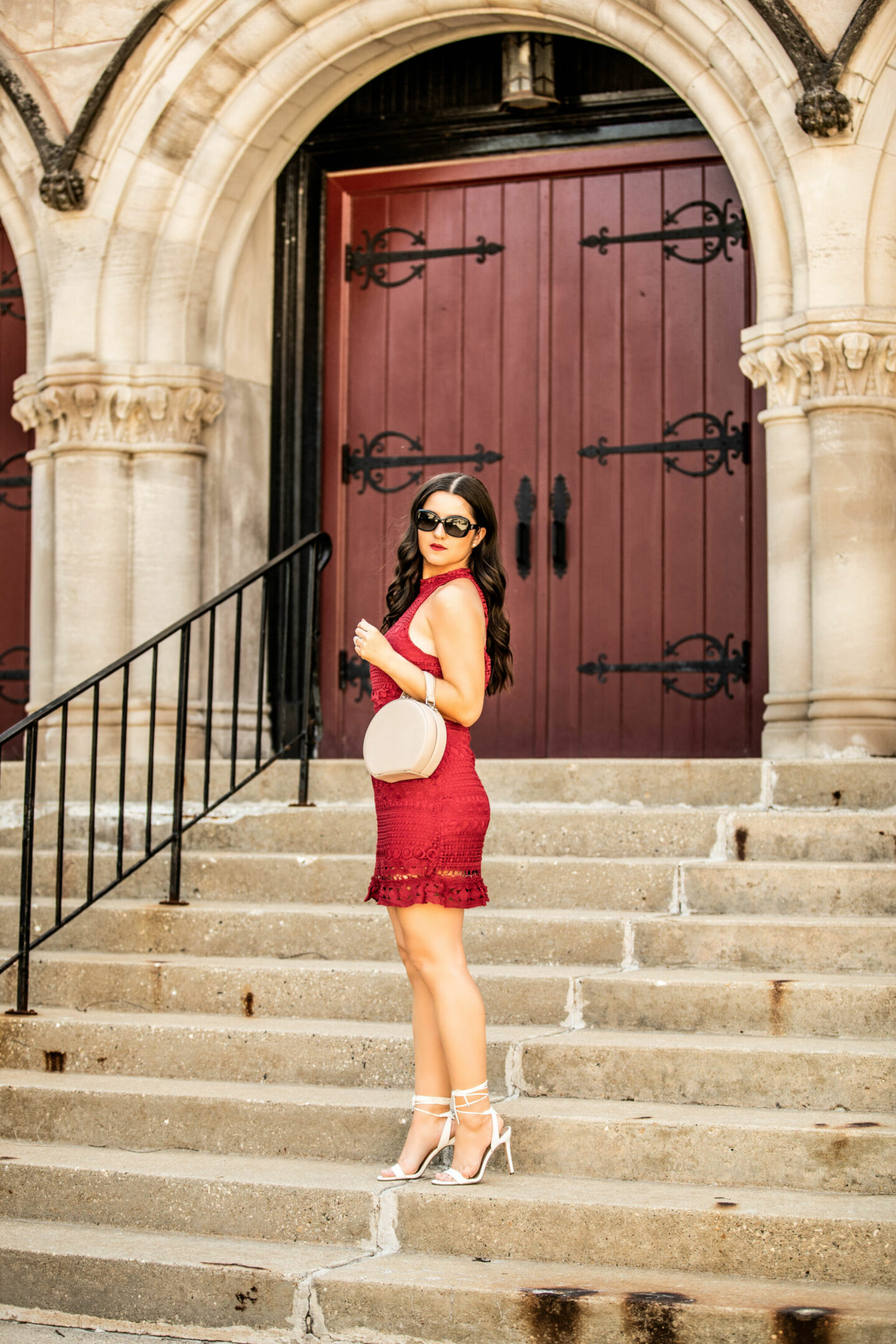 Red Lace Dress for Spring