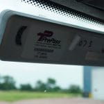 PrePass attached to windshield
