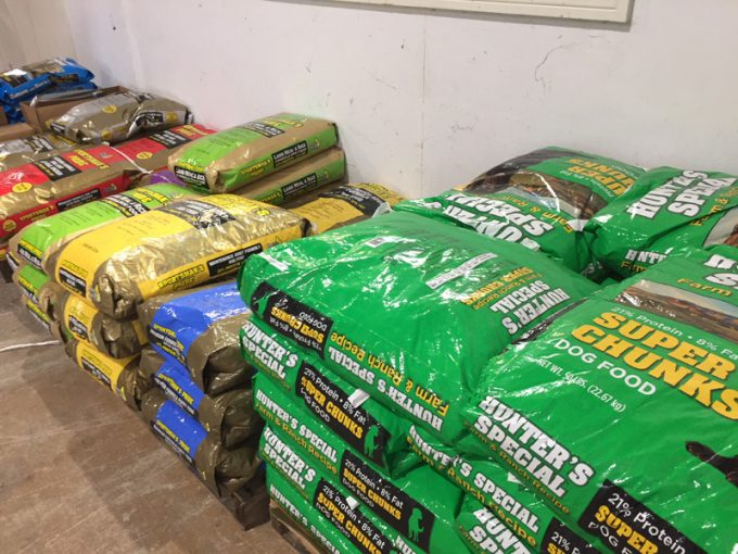 Dog food at Clint Smith Hay & Feed in Prattville, AL