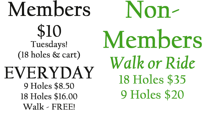 prattville country club golf packages for members and non members