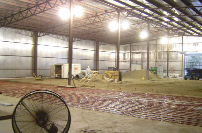 Industrial woodworking manufacturing building. Includes offices, fabrication area and coating rooms by Dunbar & Brawn Construction.
