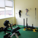 Image of the weight sled and back raise machines