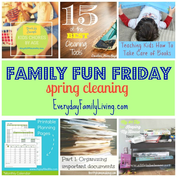 spring cleaning Family Fun Friday