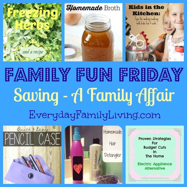 Saving - A Family Affair on Family Fun Friday