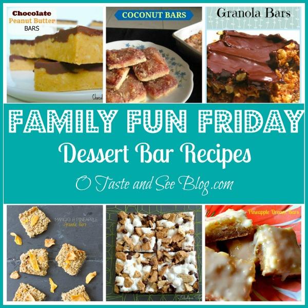 dessert bar recipes family fun friday