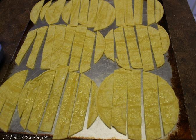 baked tortilla strips