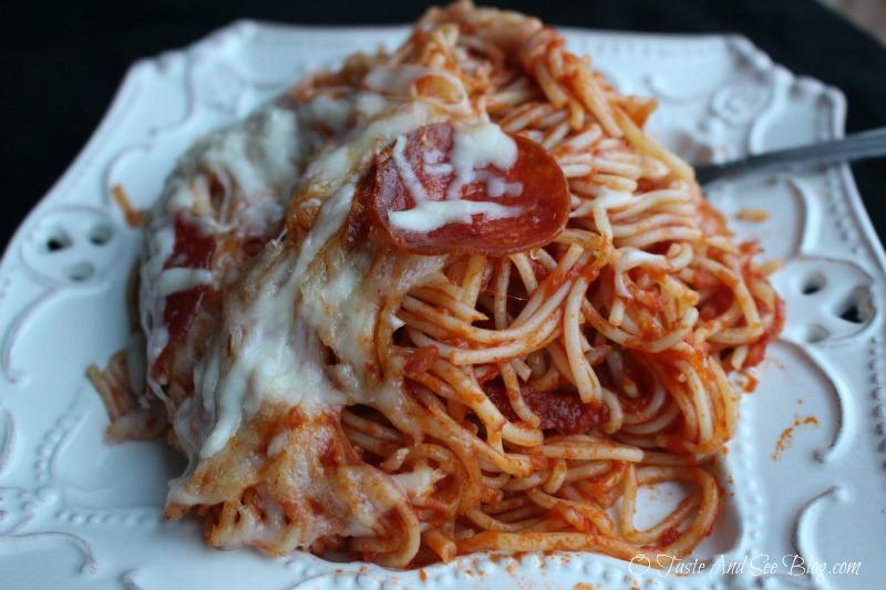 Pepperoni Baked Spaghettti ad