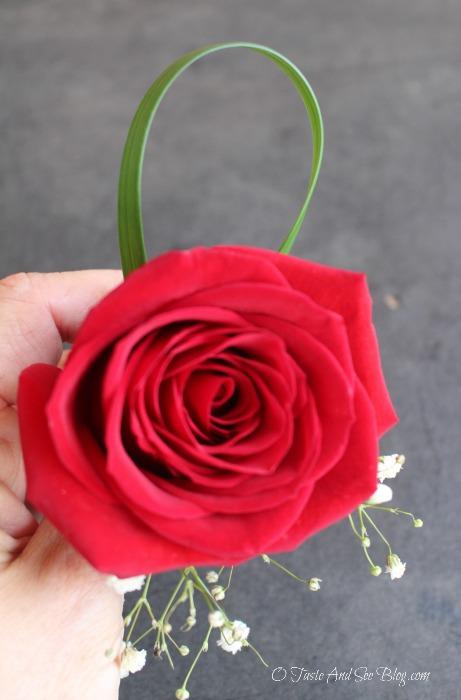 Single Rose Boutonniere #ad