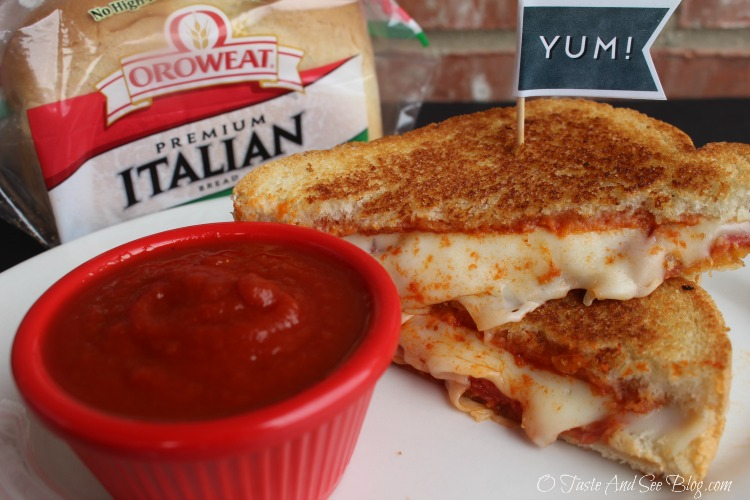 Pepperoni Pizza Grilled Cheese #ad