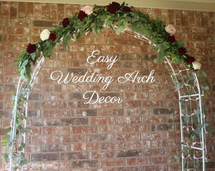 Easy Wedding Arch Decor #ad #fiftyflowers