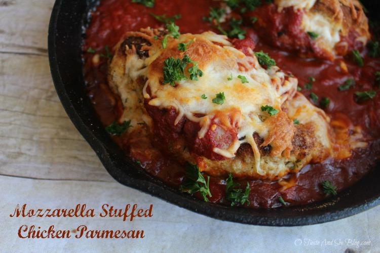 Mozzarella Stuffed Chicken Parmesan