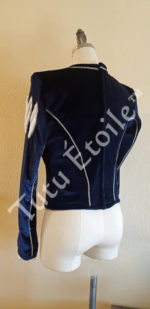 Royal Blue and Silver (Back)
