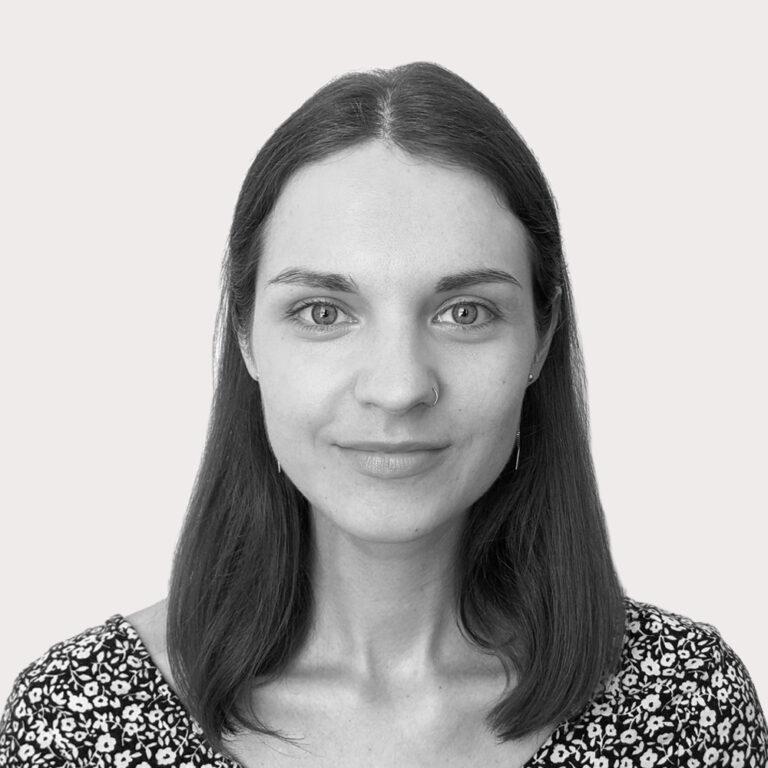 Ieva's portrait in black and white