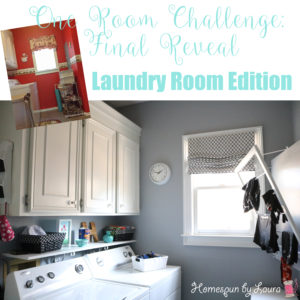 One Room Challenge Week 6: The Laundry Room Reveal | Homespun by Laura