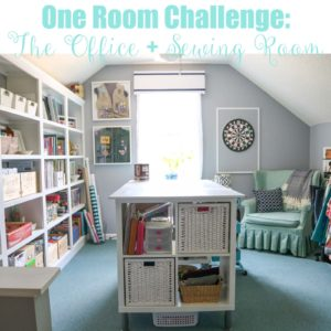 One Room Challenge Office + Sewing Room Reveal | Homespun by Laura