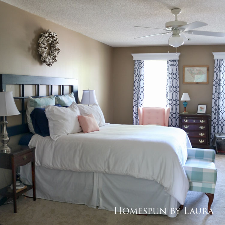 Master bedroom refresh | Homespun by Laura | Budget master bedroom redecoration