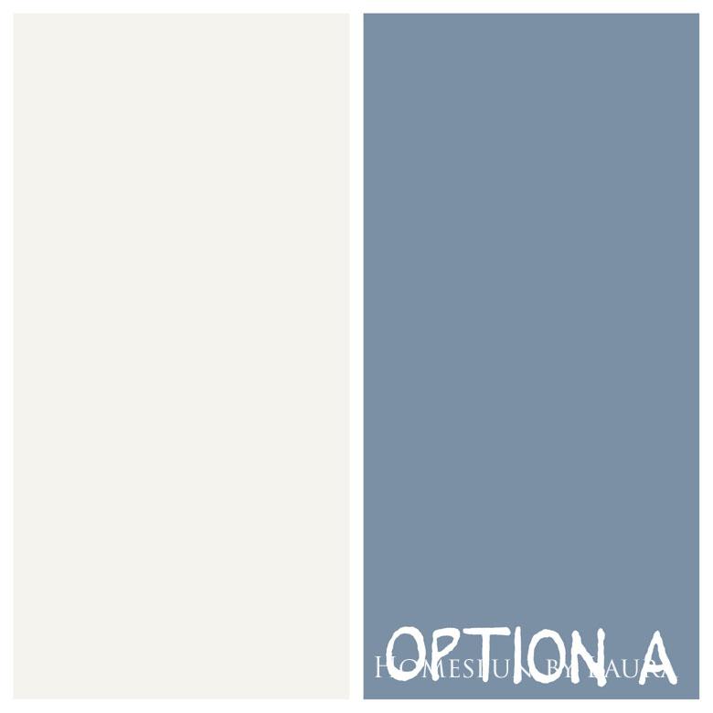 $75 DIY Powder Room (and Pantry!) Update: One Room Challenge Week 3 | Homespun by Laura | Potential floor paint colors: Swiss Coffee and Jean Jacket by Behr
