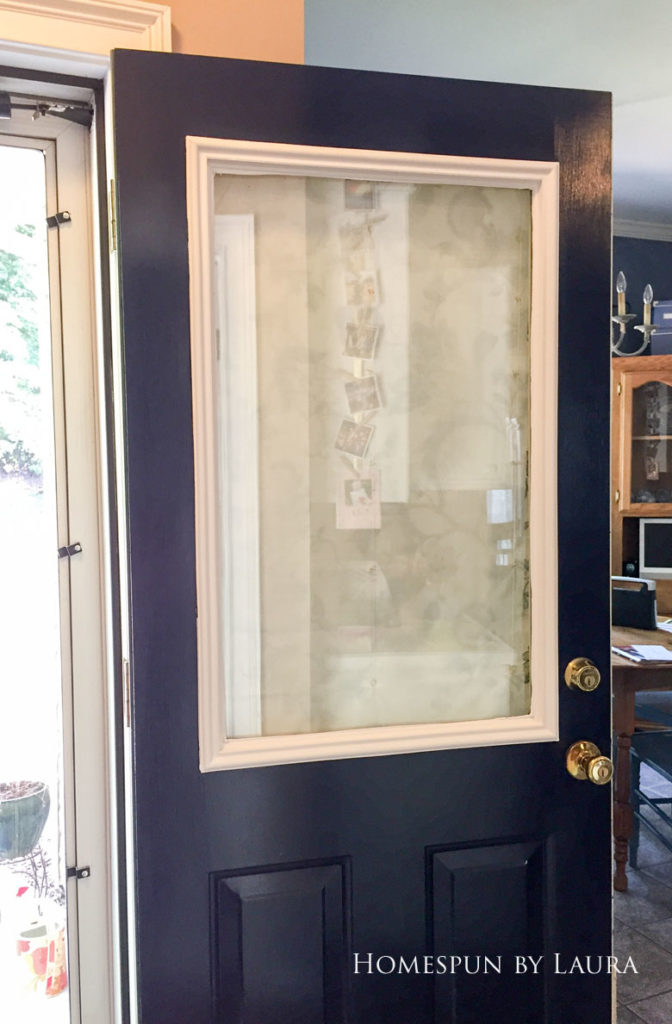 Sprucing up the back door with some leftover paint | Homespun by Laura
