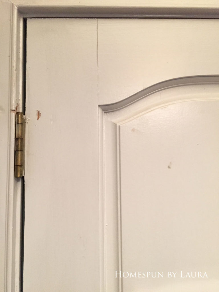 Dingy and chipping front door interior | Homespun by Laura