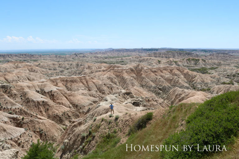 Using a telephoto lens in the Badlands   Homespun by Laura