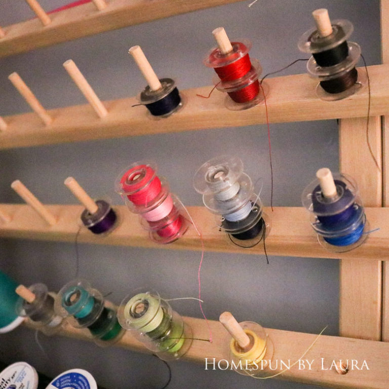 Extra bobbins are helpful for quickly changing thread colors   DIY Gift Guide for Makers and DIYers by Homespun by Laura