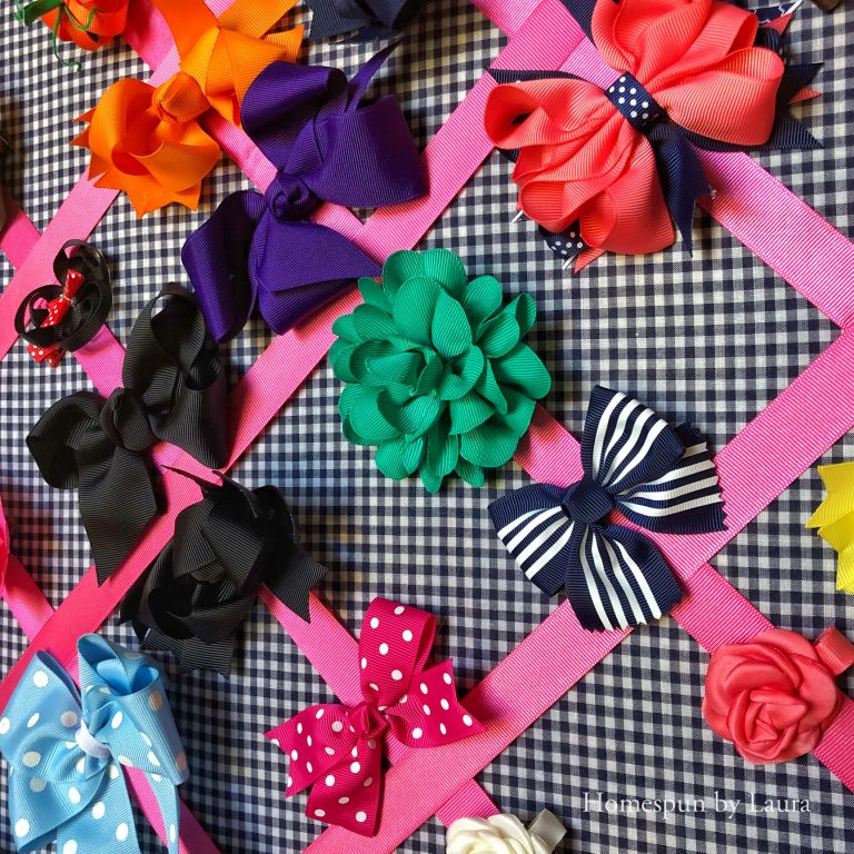 Nursery closet hairbow wall storage and display - Fall 2018 One Room Challenge